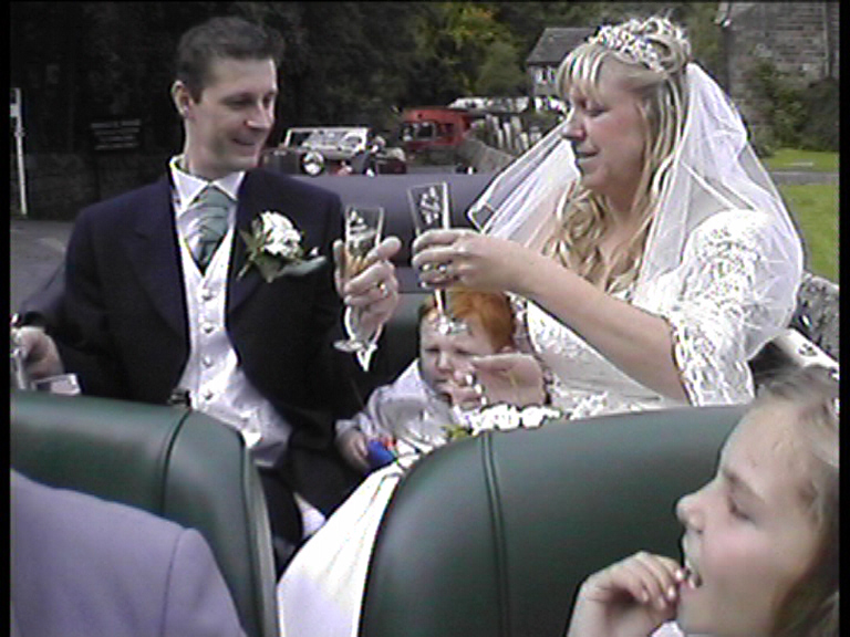 Unique In-Car Video Service only from Charisma Wedding Services