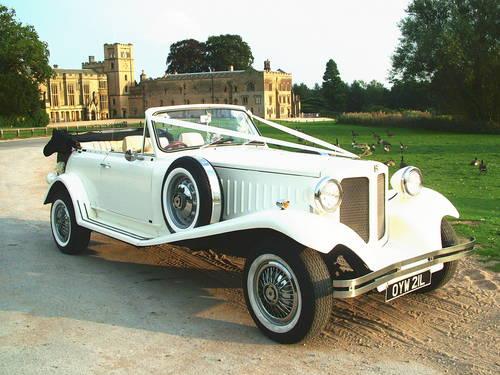 White 1930 S Style Beauford Wedding Car
